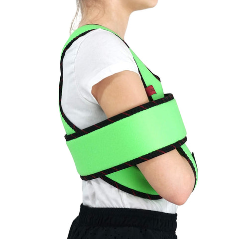 Image of Kids Arm Sling Shoulder Immobilizer Brace - Fully Adjustable Rotator Cuff Arm Soulder and Elbow Support / ACJB2409