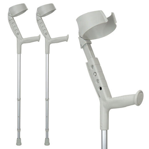 Image of Progress-II Adult Walking Forearm Crutches with Closed Cuff and Adjustable Arm Support