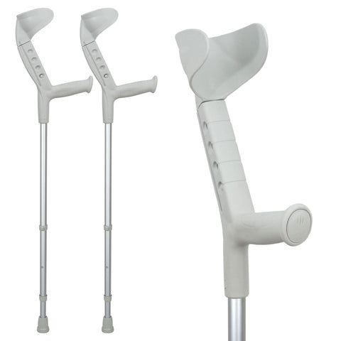 Progress-I Adult Walking Forearm Crutches with Adjustable Arm Support