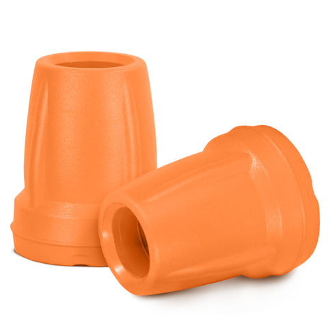 Image of Crutch Tips (1 Pair) - Orange