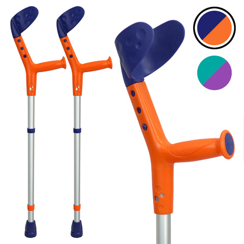 Tiki Kids Walking Forearm Crutches with Adjustable Arm Support