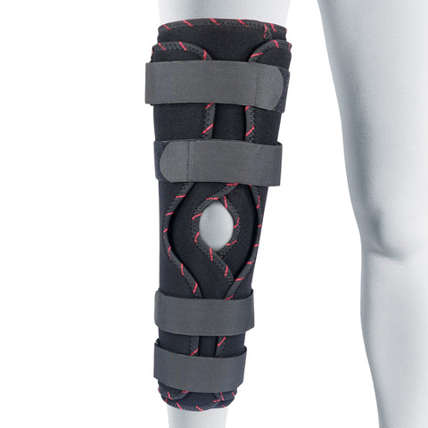Image of Adjustable Tri-Panel Straight Leg Support Knee Immobilizer Brace