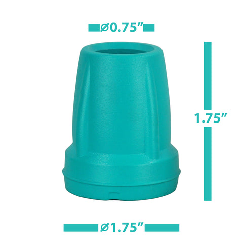Image of Crutch Tips (1 Pair) – Green