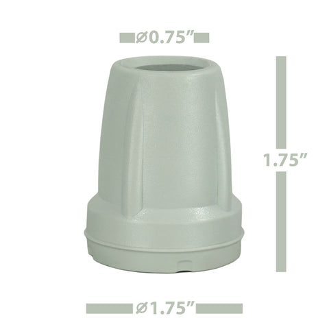 Image of Crutch Tips (1 Pair) – Light Gray