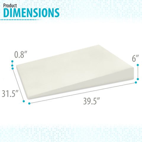 "6"" Acid Reflux Wedge Pillow - 100% Memory Foam and Removable Microfiber Cover (39.5""x31.5""x6"")"