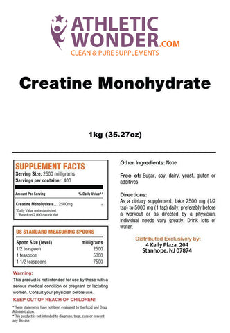 Image of Creatine Monohydrate 1kg (32.27oz)