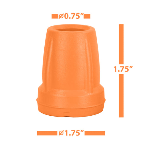 Crutch Tips (1 Pair) - Orange