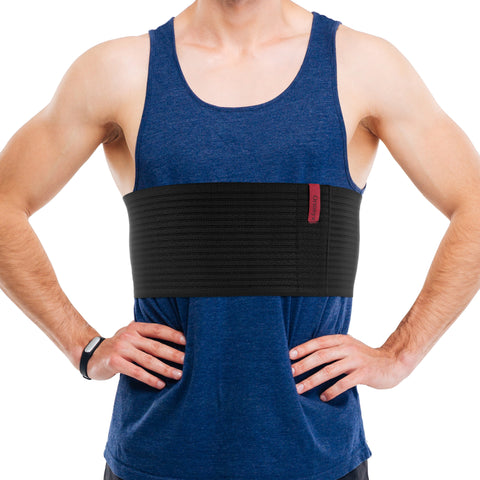 "6.25"" Rib and Chest Support Brace / ACOX5256-BK"