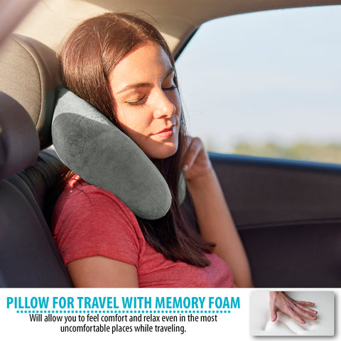 Image of Memory Foam Travel Neck Pillow (12 x 10.5 x 4)