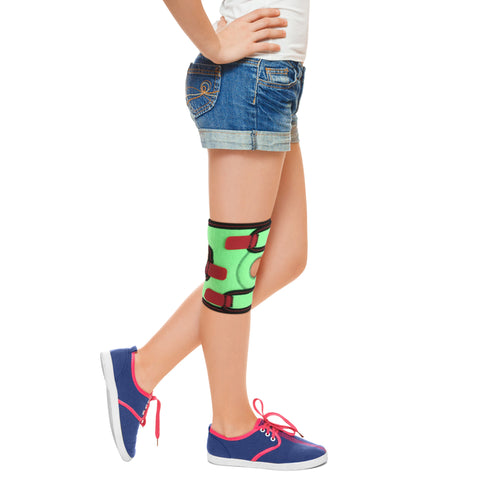 Image of Kids Knee Brace with Patella Ring and Removable Side Spring Stays/ ACJB2110