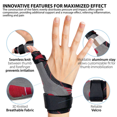 Image of Thumb Immobilizer Brace Spica Thumb Support Splint