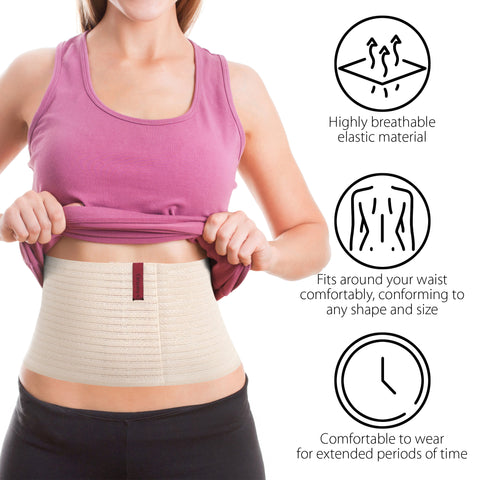 "6.25"" Abdominal Binder for Men and Women - Beige"
