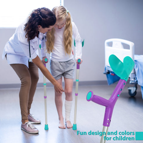 Image of Tiki Kids Walking Forearm Crutches with Adjustable Arm Support
