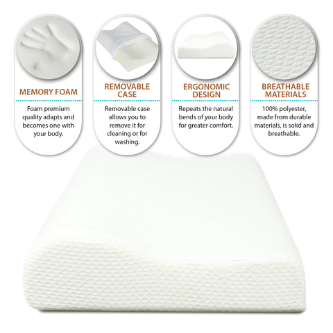 Image of Orthopedic Contoured Memory Foam Pillow, Cervical Pillow (18 x 12 * 4/3)