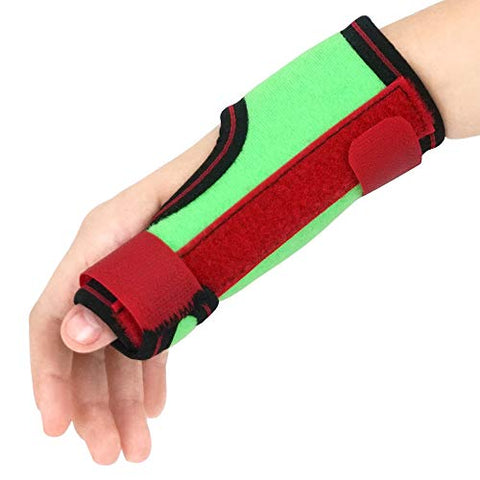 Image of Kids Thumb Immobilizer Brace Thumb Spica Support Splint- Pain, Sprains, Strains, Carpal Tunnel & Trigger Thumb Stabilizer - Wrist Strap