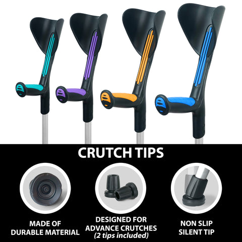 Crutch Tips (1 Pair) – Black