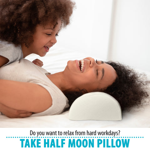 D-Roll Knee Memory Foam Pillow for Back Pain - Half Moon Bolster Pillow - Provides Relief and Support for Sleeping on Side, Stomach or Back - Semi Roll Leg Pillow Wedge (16.5 x 7 x 4)