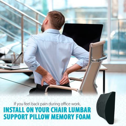 Lubar Support Pillow Memory Foam (14 x 13 x 4.5)