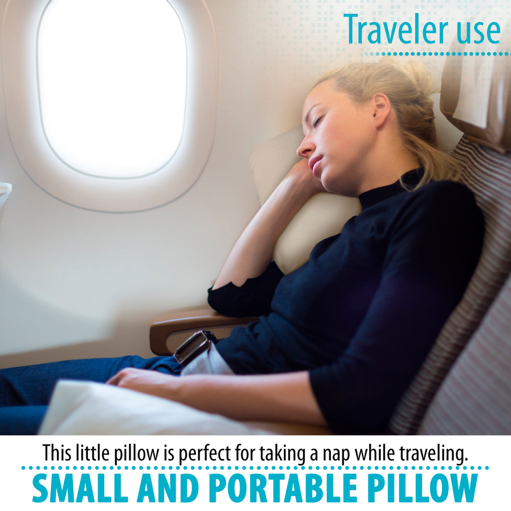 Memory Foam Travel Pillow, Bed Pillow for Sleeping, Pillow for Neck Pain, Neck Support for Back, Stomach, Side Sleepers (16 x 10 x 3)