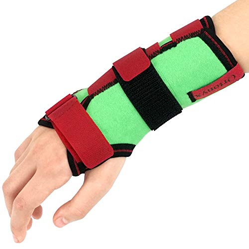 Kids Wrist Support Immobilider Brace with Splint / ACJB2302GRN