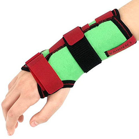 Image of Kids Wrist Support Immobilider Brace with Splint / ACJB2302GRN