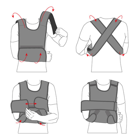 Image of Arm Sling Shoulder Immobilizer Support Brace