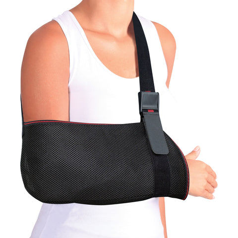 Image of Mesh Arm Support Sling Shoulder Immobilizer Brace – Breathable and Lightweight – Fully Adjustable