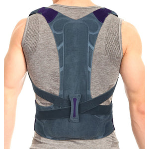 Snug High Back Support Brace Posture Corrector, Rigid Support Thoracic Lumbar Spine for Men and Women