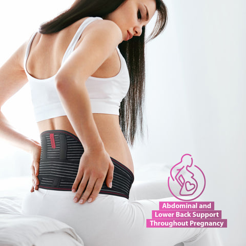 Image of Maternity Support Belt - Back, Pelvic, Hip, Abdomen, Sciatica Pain Relief - Pregnancy Brace
