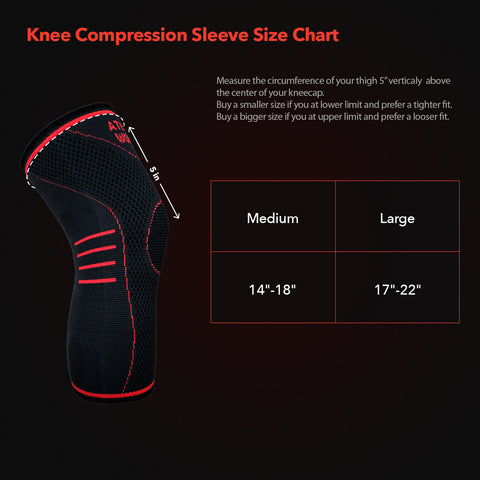 Image of Bamboo Charcoal Copper Infused Compression Knee Sleeve (1 Pair)
