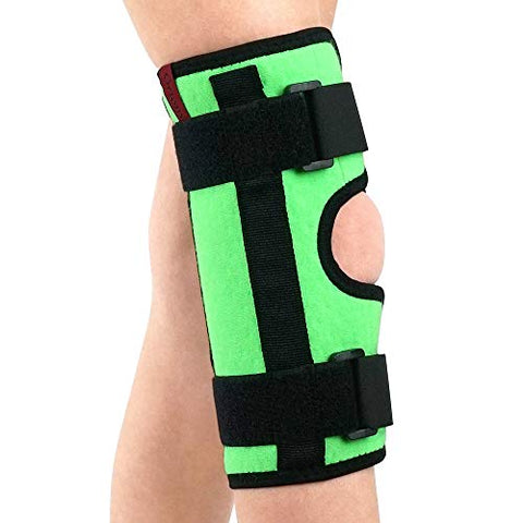 Image of Kids Tri-Panel Knee Immobilizer - Breathable and Lightweight - Straight Leg Support - Knee Splint / ACJB2117GR