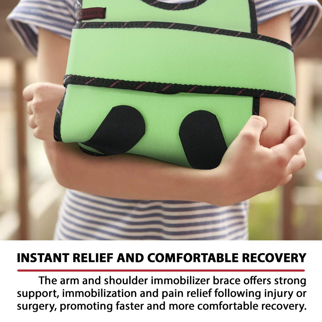 Kids Arm Sling Shoulder Immobilizer Brace - Fully Adjustable Rotator Cuff Arm Soulder and Elbow Support / ACJB2409