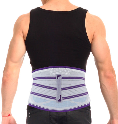 Image of Lower Back Brace and Support Belt with Removable Massage Lumbar Pad