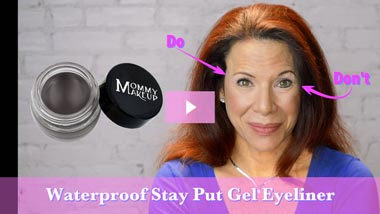 How To Apply Waterproof Stay Put Gel Eyeliner | Mommy Makeup - Video
