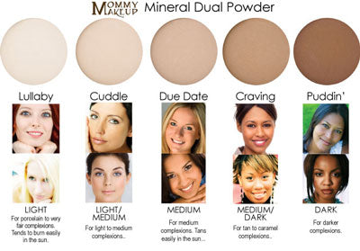 Mineral Dual Powder - mineral based 4-in-1 PRESSED Powder, Foundation, SPF 15 and Soft Focus Finish All in One - 5 Shades