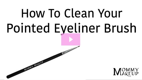 How To Clean Your Pointed Eyeliner Brush | Video