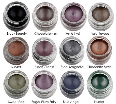 Stay Put Gel Eyeliner - Waterproof, Smudeg-proof, Paraben Free - 12 Shades