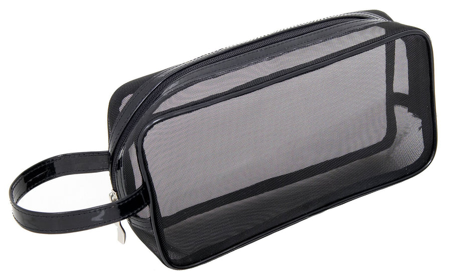 Black Mesh Makeup Bag - Luggage & Bags > Cosmetic & Toiletry Bags - Mommy Makeup