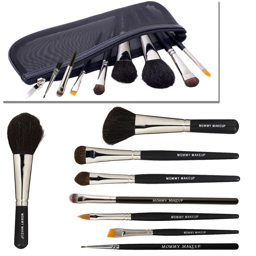Chic Mom Brush Kit - Makeup Artist Quality Brush Set Cruelty-free, Made in USA
