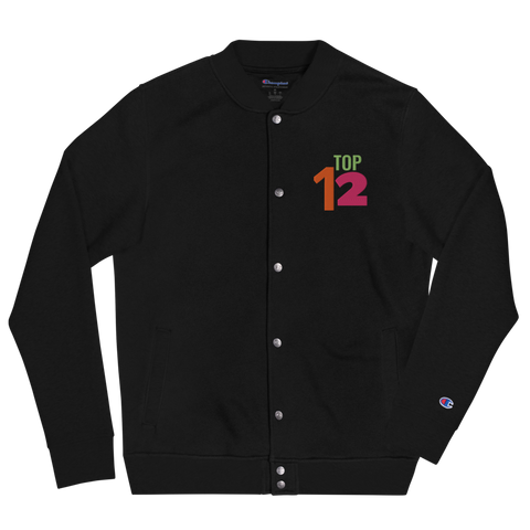 Top Twleve x  Champion Embroidered Bomber Jacket
