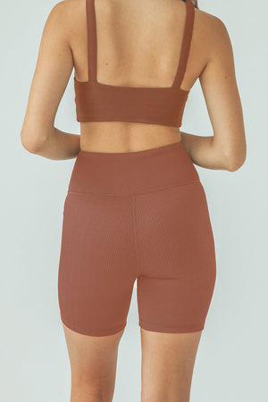 Eden Bike Shorts - Rust