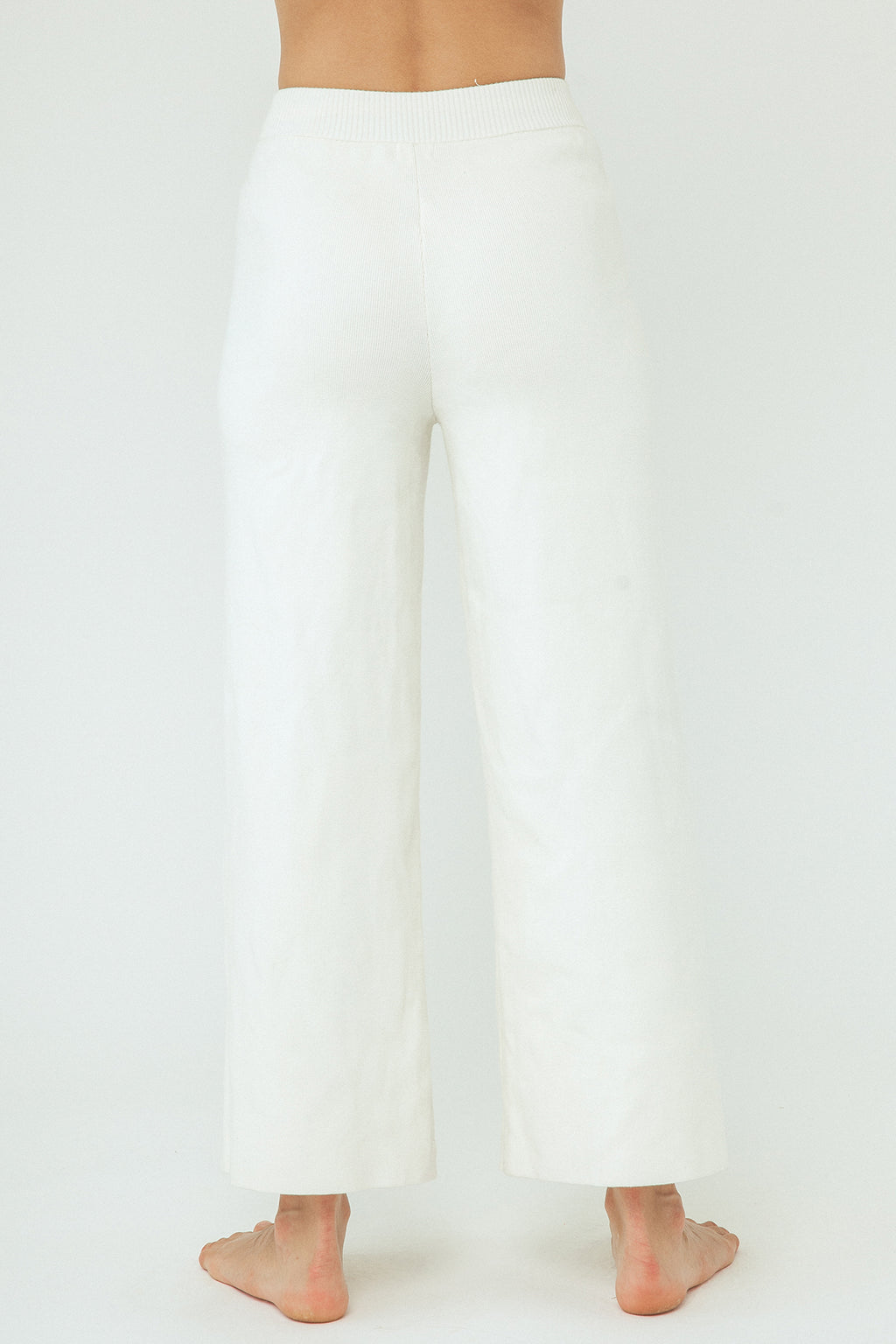 Harper Organic Knit Pants - Cream