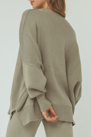 Harper Organic Knit Sweater - Sage