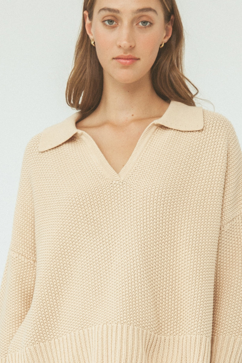 Celest Knit Sweater - Biscotti