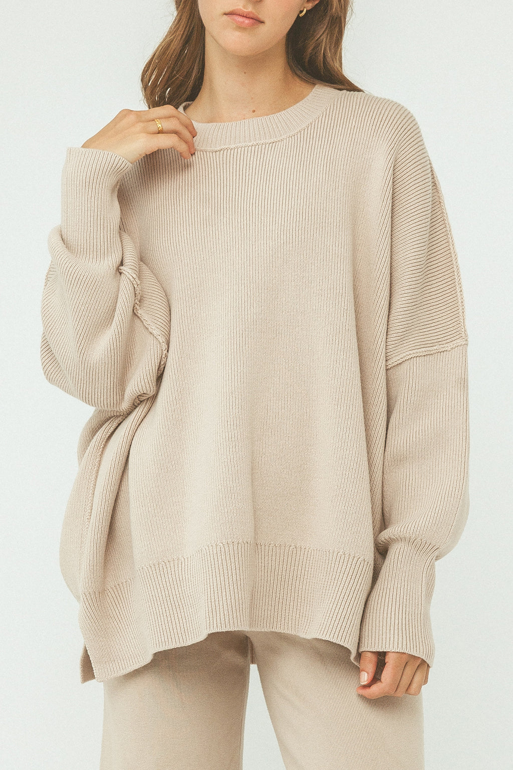 Harper Organic Knit Sweater - Dusk