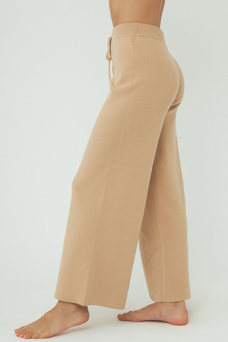 Harper Organic Knit pants - Honey