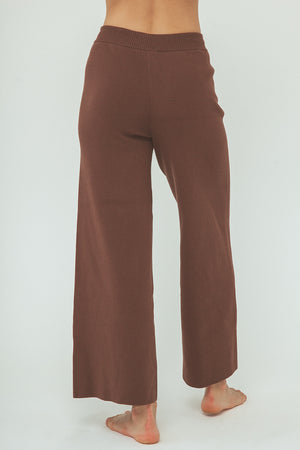 Harper Organic Knit pants - Chocolate - PRE ORDER