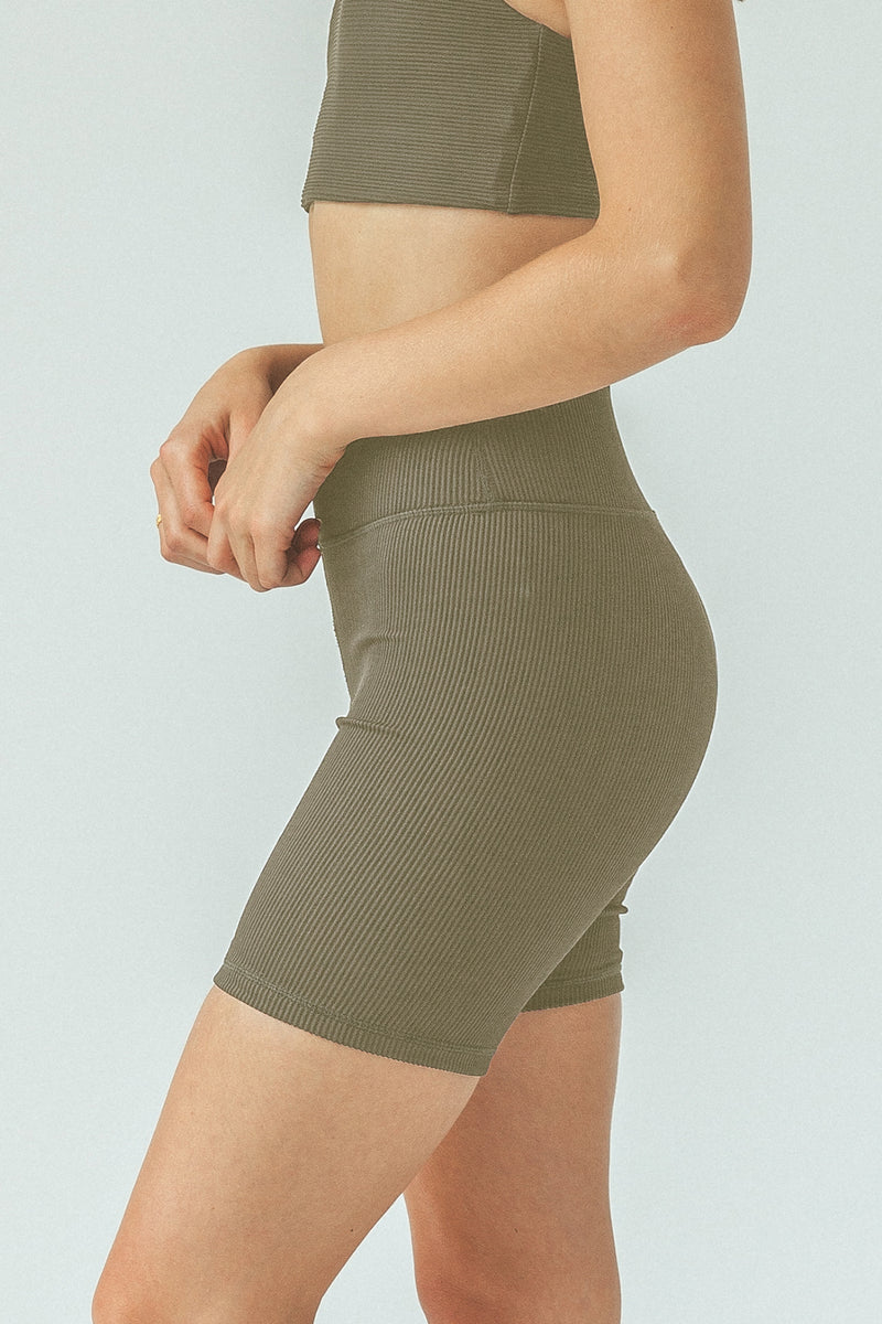 Eden Bike Shorts - Olive