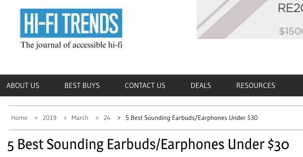 Best Sounding Earbud [Under $40] on Sale for $19.95