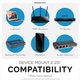 "SCREWLESS WALL MOUNT FOR ROUTERS, CABLE BOXES AND MORE - DEVICES UP-TO 2.25""/57MM THICK"